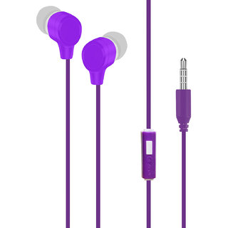 Digibuff E4 In-Ear Premium Earphones -Purple