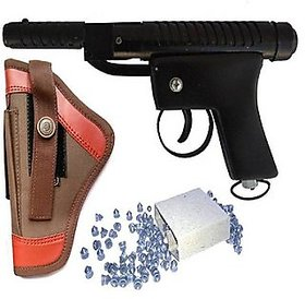 Dynamic Mart Cobra Air Gun 100 Bullets With Cover Pack Of 1 Brown