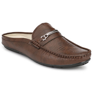 Shoe Rider Men's Brown Synthetic Leather Casual Loafer