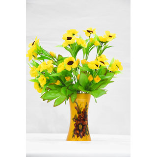 Wooden pot with Artificial Flower