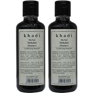 Khadi Herbal Shikakai Shampoo - 210ml (Set of 2)