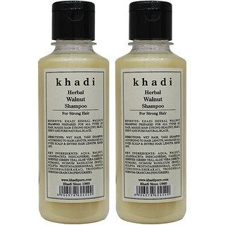 Khadi Herbal Walnut Shampoo - 210ml (Set of 2)
