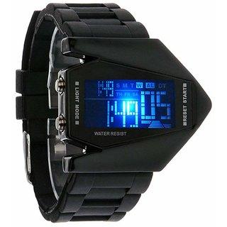 Espire New Led Digital Black Dial Rocket Shape Watch for Boys Digital Watch Strap