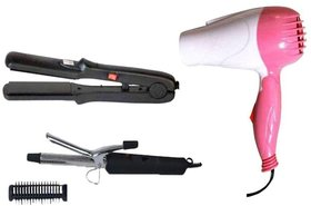 Pack of  Hair Curler, Dryer, Hair Straightener