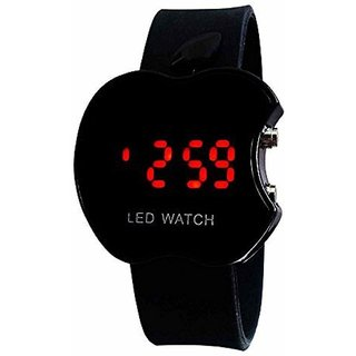Espire Black Digital Apple Cut Watch Digital Watch Strap
