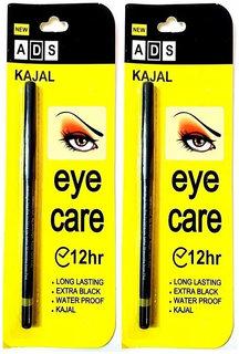ADS Black Eye Kajal 12Hr Pack of 2