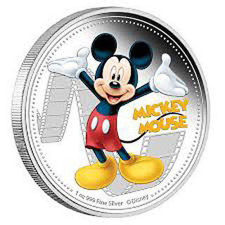 Disney Classics Coin Collection - Mickey Mouse Silver Plated Coin