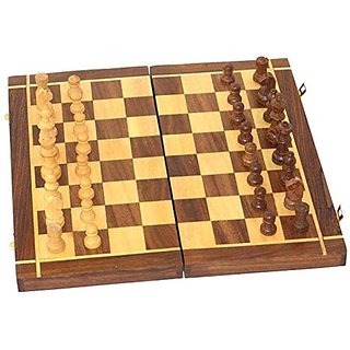 Shilpi Sheesham Wood shatranj Game Set / Handmade Chess Board