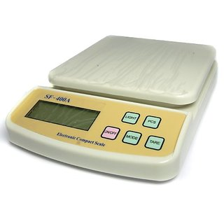 Compact Scale With Backlight SF 400A with Adaptor 10 kg Digital Multi-Purpose Kitchen Weighing Scale