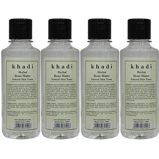 Khadi Herbal Rose Water - 210ml (Set of 4)