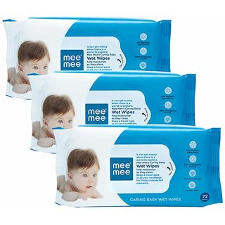 Mee Mee Wet Wipes with Aloe Vera (72 pcs) (Pack of 3)