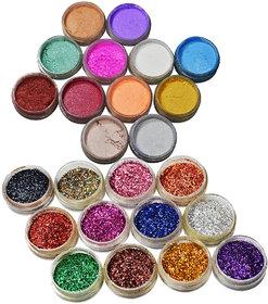 Adbeni Shimmer Glitter Eye shadow Pack of 24