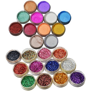 Adbeni Shimmer Glitter Eye shadow Pack of 24