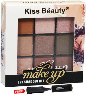 Kiss Beauty Makeup Eye shadow Kit Shade-B01 With Free Adbeni Kajal Worth Rs.125/