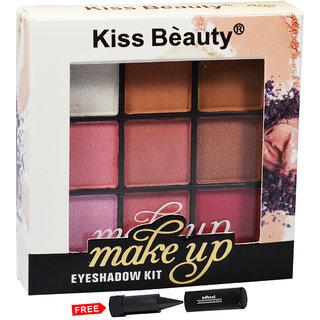 Kiss Beauty Makeup Eye shadow Kit Shade-A02 Pack of 1 With Free Adbeni Kajal Worth Rs.125/