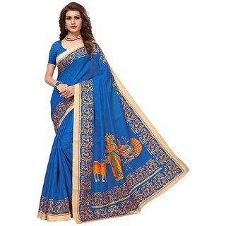 festive wear printed art silk women's saree HIS1022