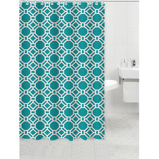 Lushomes Digital Honeycomb Design Shower curtain with 12 eyelets and 12 hooks (Single pc 71 x 78 180 x 200 cms)