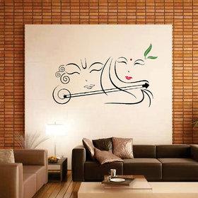 Ghar Kraft Radhe Krishna with Flute Wall Sticker