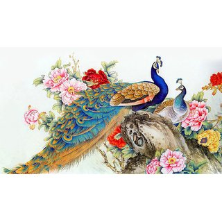 Royal Peacock Multicolor Sticker by GHAR KRAFT Pack of 1