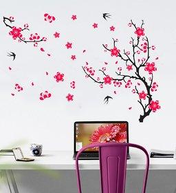Ghar Kraft Different tree with flower Wall Sticker