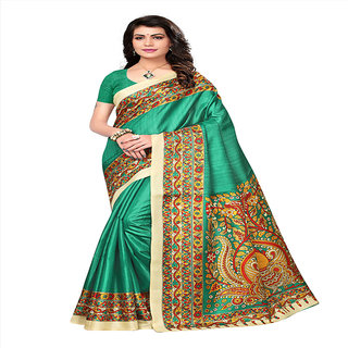 Linaro Lifestyles Women's Khadi Jute Silk Saree With Blouce Piece(LL000613)
