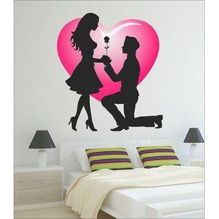 Ghar Kraft Valentine my love Vinyl Multicolor Wall Sticker (Pack of 1)