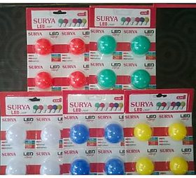 Surya LED 0.5W Bulb Set of - 20 ( White, Red, Green, Yellow, Blue )