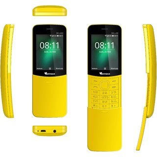 Mymax M8110 , Dual Sim , 2.4 inc Feature phone , Vibration  Open FM with Talking Keypad ,Slider Phone , 1000mAh Battery