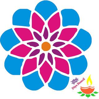 Incredible Gifts Flower rangoli design FLW009(Wood, 15x15cm)
