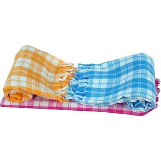 PACK OF 2 SLIM AND SOFT COTTON TOWEL PACK OF 2 MULTICOLOUR TOWEL COMBO DIWALI PACK