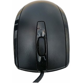 HP USB Optical Scroll Wired Mouse for Desktop and Laptop  Black