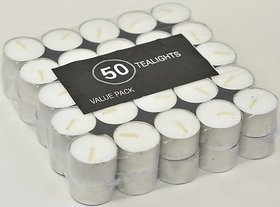 Set of 50 Unscented Tealights
