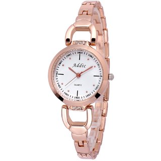 4cdc3ef640d Buy Addic Analogue Crisply Yours Rose Gold White Dial Women s Watch (6061)  Online - Get 67% Off