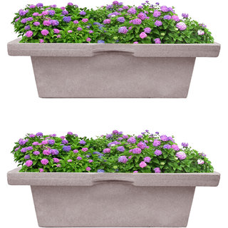 Sereno Linea Rectangular Pot / Balcony Pot / Planter Pot Rectangular Square / Planters For Balcony Dholpur Stone 6040