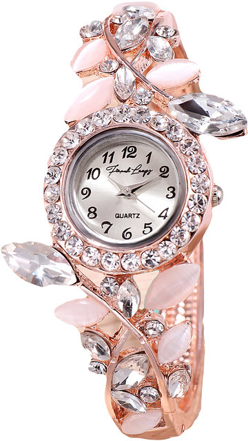 4db6da52a Buy French Loops Dream Girl White Stone Crystal Studded Party Wear Bangle  Bracelet Watch Online @ ₹599 from ShopClues