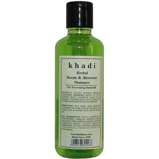 Khadi Herbal Neem  Aloevera Shampoo - 210ml