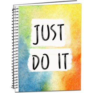 Style Crome Just do it Paper Finish, Hard Cover, Ruled, 80 GSM, 200 Pages A4 size notebook