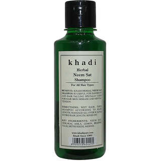 Khadi Herbal Neem Sat Shampoo - 210ml