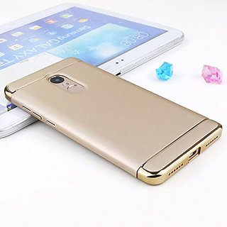 BRAND FUSON Redmi Note 5 Hard PC Shell Electroplate Matte 3 in 1 Anti Scratch Proof 360 Degree Back Cover Case (Gold )