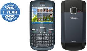 Refurbished Nokia C3-00 Phone QWERTY Blue Mobile