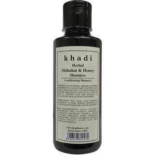 Khadi Herbal Shikakai  Honey Shampoo - 210ml