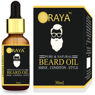 100 Natural  Oragnic Beard Oil for Nourishment, Shine  Healthy Beard 30ml