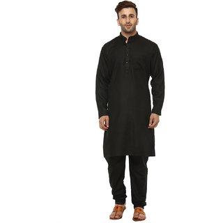 Lee Marc Men's Black Kurta & Pyjama Sets