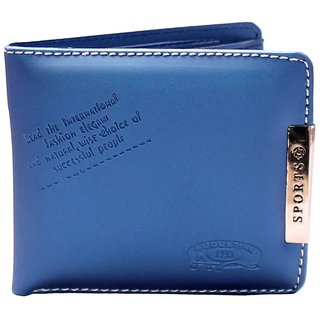 S Decor Blue Sports Pu Wallet (Synthetic leather/Rexine)