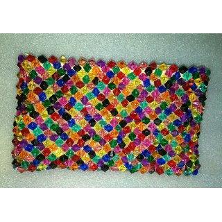handmade multicolour crystal handbag