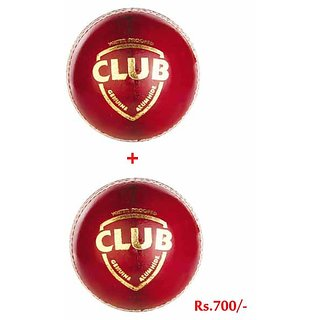 sg club red leather cricket ball - Four Piece 2 Quantity