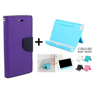 New Mercury Flip Cover for Micromax Canvas Nitro A310  ( PURPLE ) With Multi Angle Mobile Phone Stand
