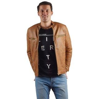 Nacson  New Arrival Stylish Men's Leather Full Sleeve  Jacket.