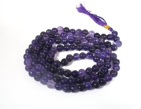Mala Amethyst Prayer Beads Buddhist 108 Necklace Gemstone Tibetan Bead Purple Stone Meditation Gift