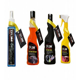 CAR WAX POLISH 250ml.+ LEATHER POLISH  250ml. + floral CAR AIR FRAGNANCE 200ml.+ CAR WASH SHAMPOO 250ml.